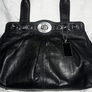 Authentic large leather coach